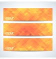 Yellow set of banners Background with blue vector image