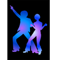 Disco Colorful Blue vector image