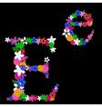 e letter vector image vector image