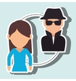 character secure protection vector image