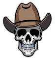 cowboy skull vector image