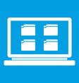 Desktop icon white vector image