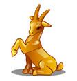 golden figure of goat chinese horoscope symbol vector image