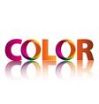 logo color vector image