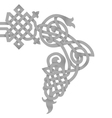 native knoted ornament vector image