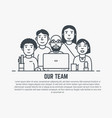 our team template vector image