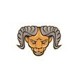 Ram Head Isolated Cartoon vector image