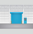 shutter door vector image