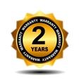 Gold guarantee sign warranty label vector image