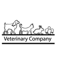 Veterinary company logo vector image