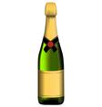 Green bottle of sparkling wine vector image