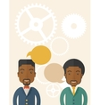 Black business people vector image