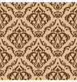 Tracery brown seamless vector image vector image