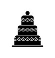 cake big - 3 levels icon vector image