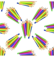 Colorful Pencils Seamles Pattern vector image