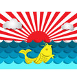 fish swimming in the sea with sunshine for summer vector image