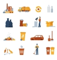 Garbage Color Icons vector image