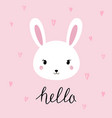 hand drawn portrait of a cute funny bunny vector image