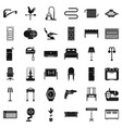 household icons set simple style vector image
