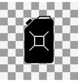Jerrycan oil icon on a transparent vector image