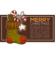 knitting socks full of christmas presents vector image