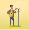 man singing into a microphone vector image