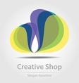Originally designed business icon vector image
