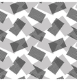 The pattern of gray and halftone rectangles vector image