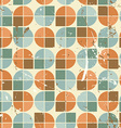 Vintage bright rounded geometric seamless pattern vector image