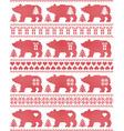 Polar Bear seamless Christmas pattern vector image