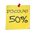 Notes discount vector image vector image