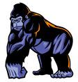 gorilla mascot vector image vector image