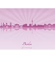 Berlin skyline in purple radiant orchid vector image vector image