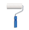 realistic paint roller vector image vector image