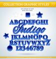 Indigo Graphic Styles for Design use for decor vector image