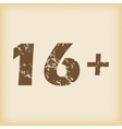 Grungy age restriction icon vector image