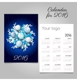 Calendar with a picture of the wreath white balls vector image