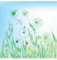 grass sketch vector image vector image