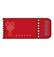red movie ticket vector image