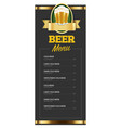 design of blank beer menu vector image