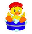 Funny duck cartoon vector image