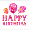 Original Happy Birthday Card with balloons vector image