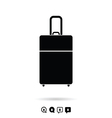 travel bag set in black and white color vector image