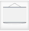 White projection screen hanging from wall vector image