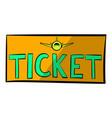plane tickets icon icon cartoon vector image