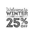 winter sale poster design template creative vector image