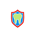 dentist health protection shield logo vector image