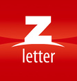 Abstract logo letter Z on a red background vector image
