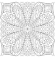 Adult coloring book page template vector image