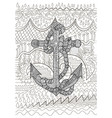 black and white of an anchor vector image